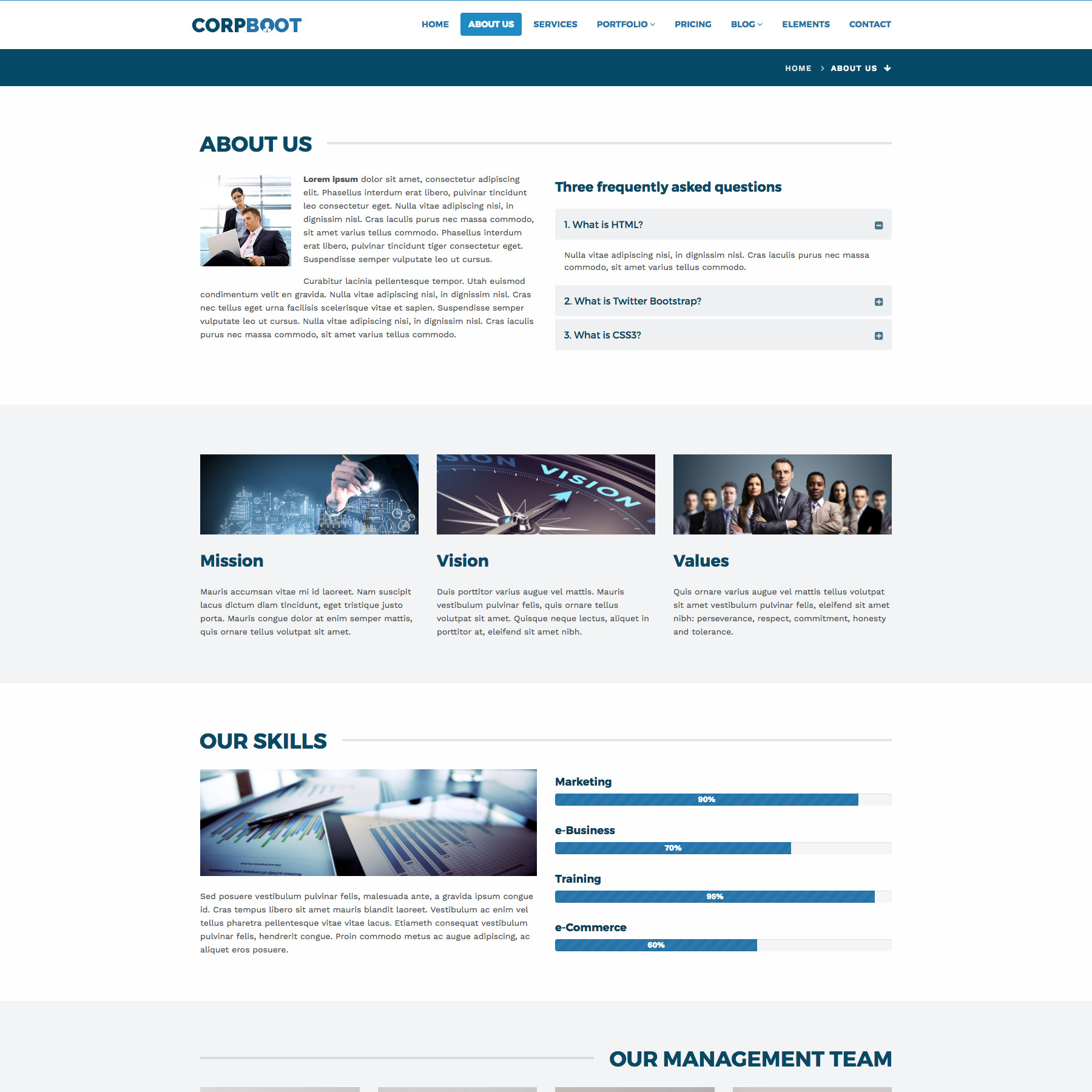Corpboot Corporate Website Template By Rafamem ThemeForest - About us template for website