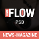 FlowNews - News and Magazine PSD Template - ThemeForest Item for Sale