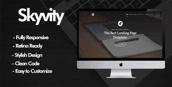 Skyvity – Responsive One Page Template