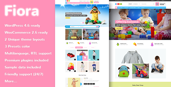 VG Fiora – WooCommerce WordPress Theme for Kids Store
