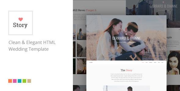 Story - Responsive HTML Wedding Template - Wedding Site Templates