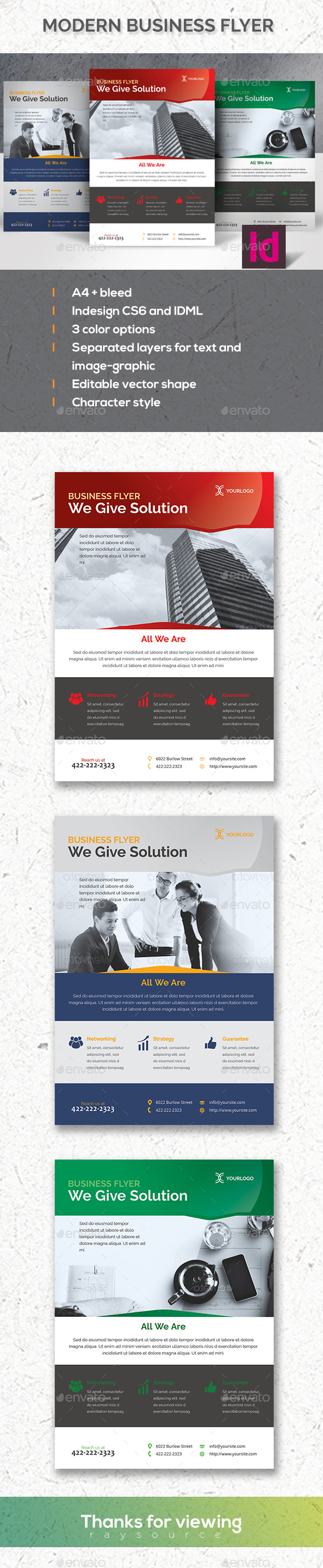 Clean Indesign Business Flyer - Corporate Flyers