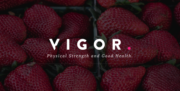 Vigor - A Responsive Good Health WordPress Blog Theme