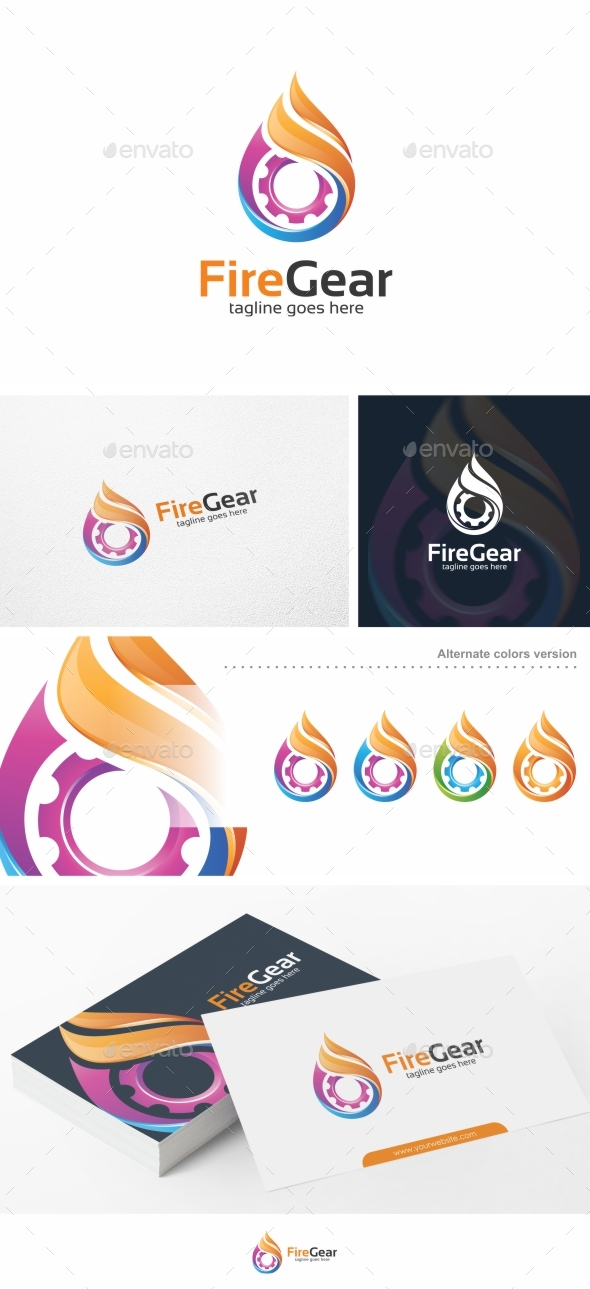 Fire Gear - Logo Template by putra_purwanto | GraphicRiver