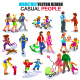 Flat Isometric Casual People - GraphicRiver Item for Sale