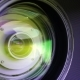 Glass Elements in a Camera Lens. Objective Under Yellow Light - VideoHive Item for Sale