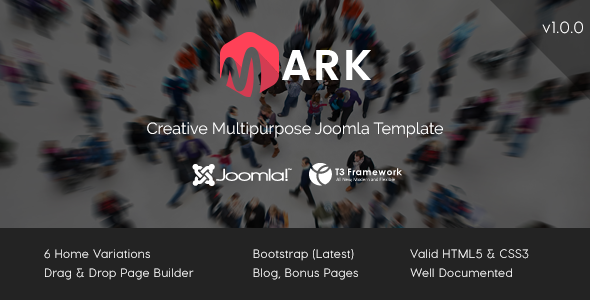 Mark - Creative Multipurpose Joomla Template