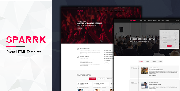 Sparrk – Event Bootstrap Template - Events Entertainment