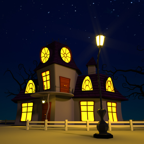 Cartoon Haunted House - 3DOcean Item for Sale