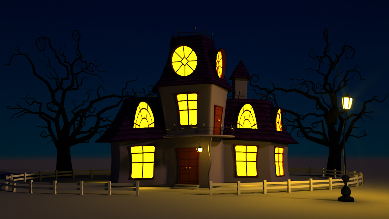 Cartoon Haunted House By Fullhpetrol 3docean