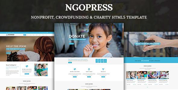 NGOPress – Nonprofit, Crowdfunding & Charity HTML5 Template