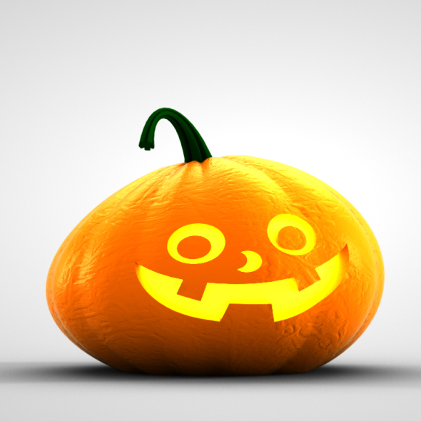 3D Pumpkin Character - 3DOcean Item for Sale