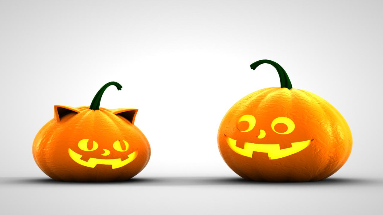 3D Pumpkin Character
