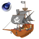 Cartoon Pirate Ship - 3DOcean Item for Sale