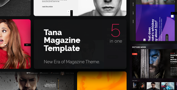 Magazine Tana – Newspaper Music Movie & Fashion, 5 in 1 Magazine Theme