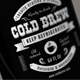 Cold Brew Label - GraphicRiver Item for Sale