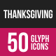Thanksgiving Glyph Inverted Icons