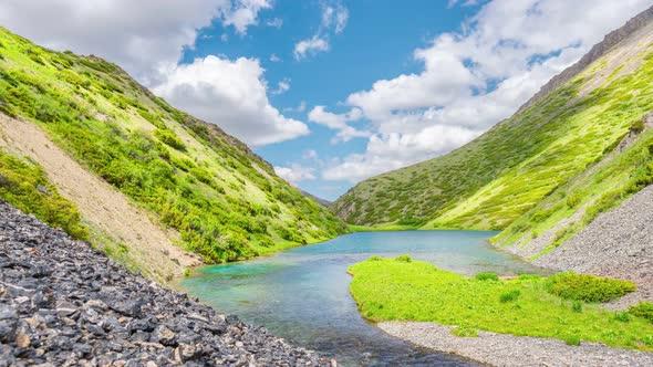 Beautiful turquoise alpine lake by PISHEVroman   VideoHive
