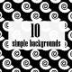 Black & White Simple Backgrounds Pack1 - VideoHive Item for Sale