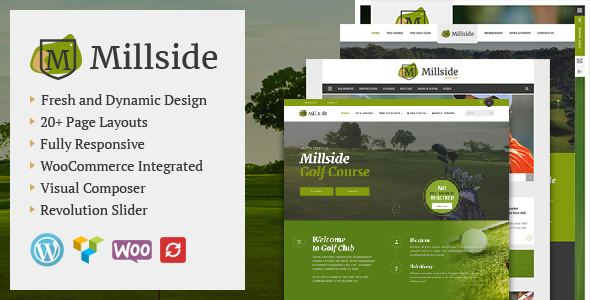Millside – Golf and Sport WordPress theme