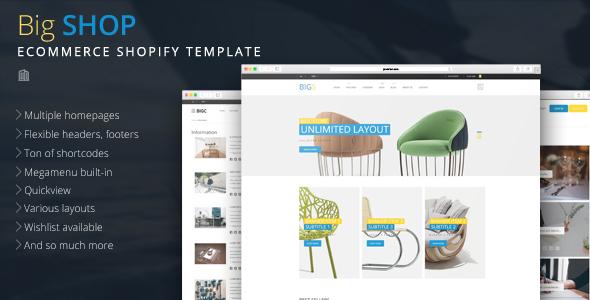 Big Shop - Multipurpose eCommerce Shopify Theme - Shopify eCommerce