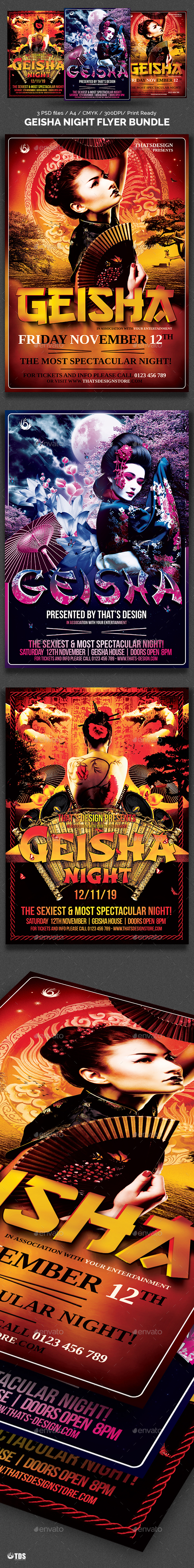 Geisha Night Flyer Bundle - Clubs & Parties Events