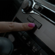 Car Interior Female Hand Typing Media Button - VideoHive Item for Sale