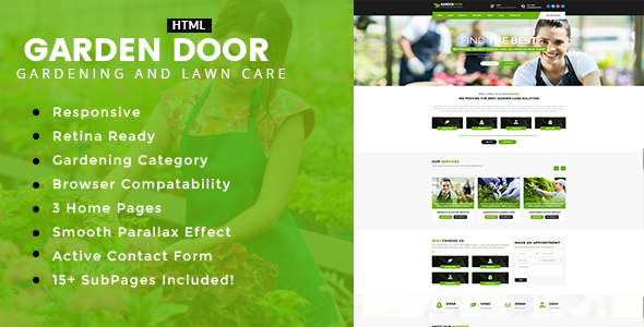 Garden Door - Gardening and Landscaping HTML Template
