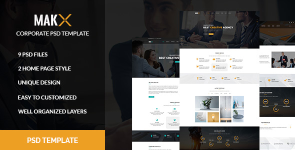 MAKX – Corporate PSD Template