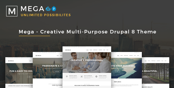 Mega - Creative Multi-Purpose Drupal 7 - 8 Theme - Business Corporate
