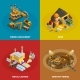 Mining Concept Icons Set - GraphicRiver Item for Sale