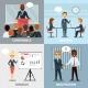 Business Pofessionals Presenting Ideas Flat