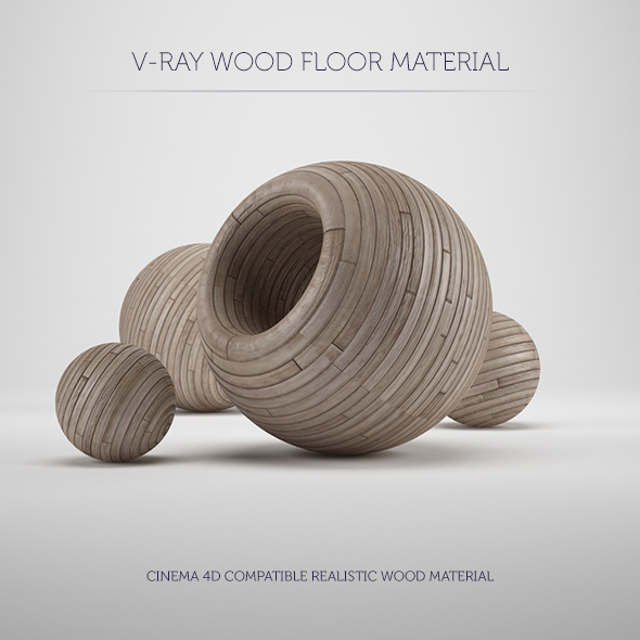 C4D V-Ray Wood Floor Material - 3DOcean Item for Sale