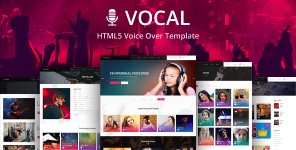 Vocal – HTMl Template for Voice Over or Dubbing artist