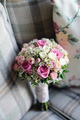 Beautiful wedding colorful bouquet for bride