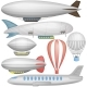 Airship, Balloons And Airplane - GraphicRiver Item for Sale