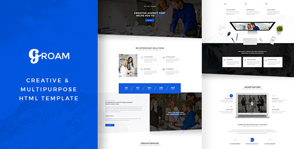 GROAM - Multipurpose HTML Template