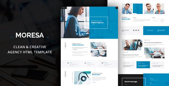 MORESA - Multipurpose HTML  Template - Corporate Site Templates