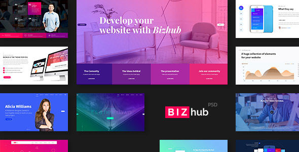 BIZhub - Mega PSD Pack