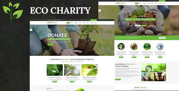 ecoCharity – Nonprofit Environment HTML5 Template