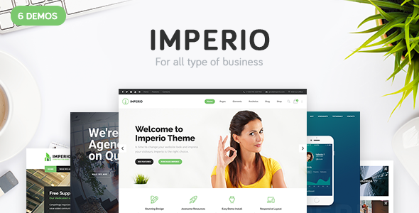 Imperio – Business, E-Commerce, Portfolio & Photography WordPress Theme