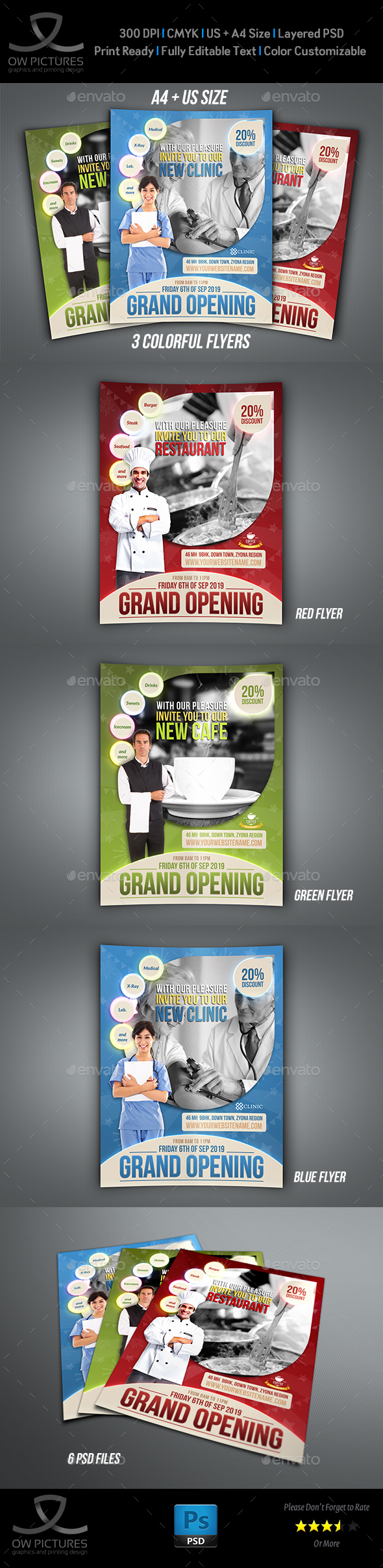 Grand Opening Flyer Template by OWPictures – Grand Opening Flyer Template