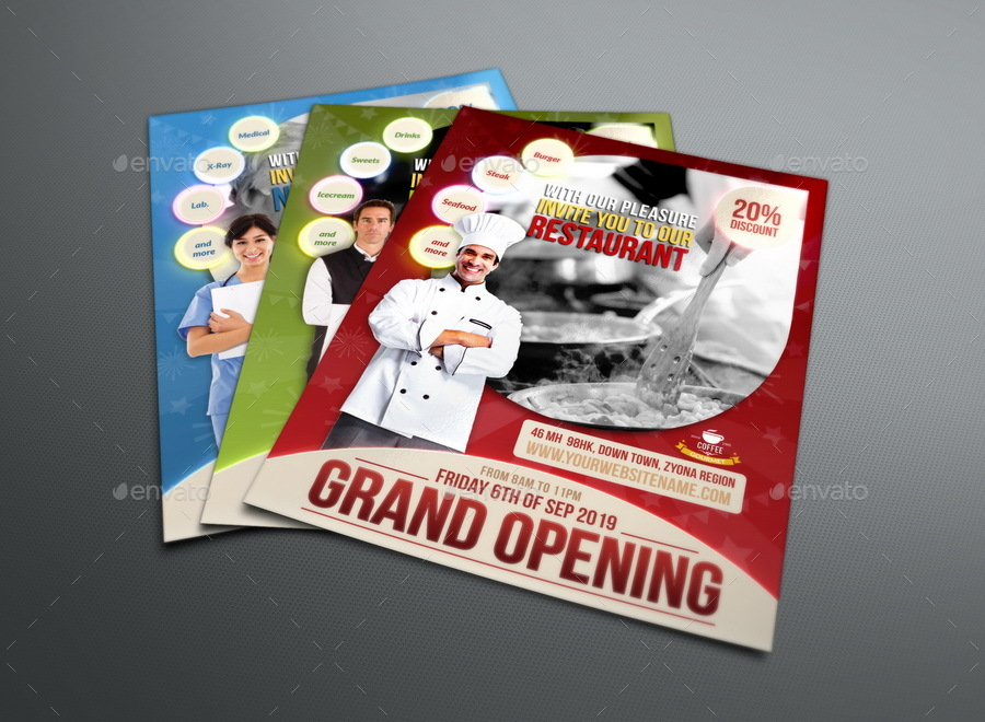 Grand Opening Flyer Template By Owpictures | Graphicriver