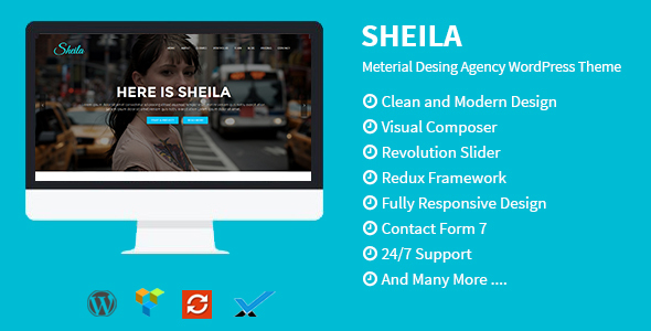 Sheila – Meterial Desing Agency WordPress Theme
