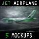 Jet Airplane Mock Up - GraphicRiver Item for Sale