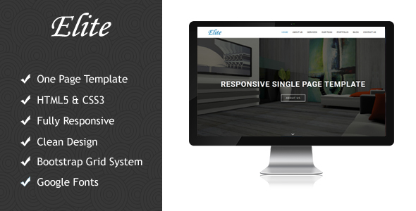 Elite Responsive Multipurpose Single Page Template - Creative Site Templates