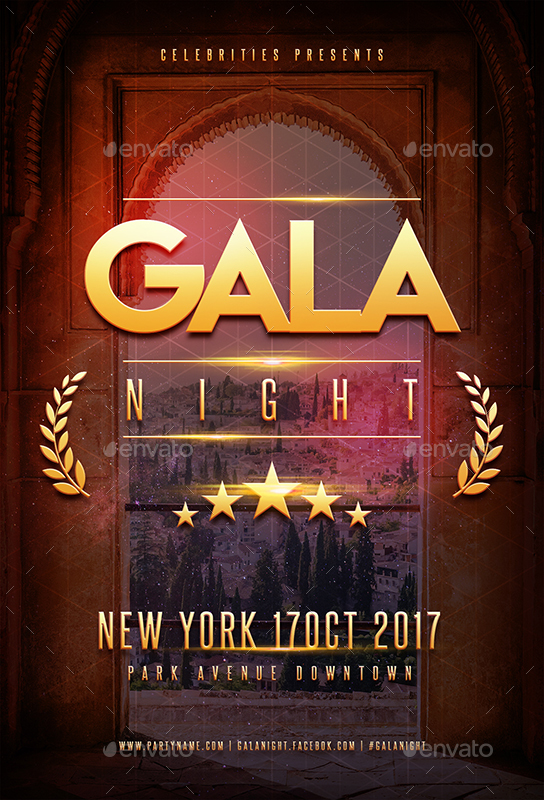 gala night party flyer by superboy1