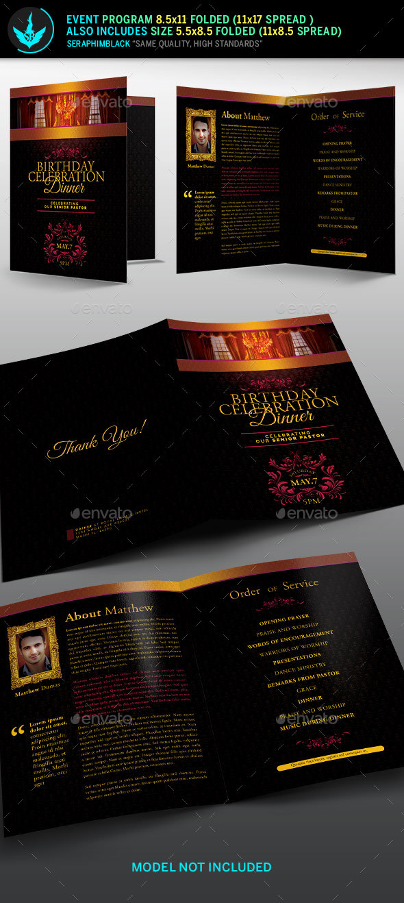 Royal Birthday Celebration Event Program Template By Seraphimblack