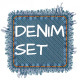 Realistic Torn Denim Patches - GraphicRiver Item for Sale