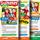 Kids Summer Camp Rack Card-Graphicriver中文最全的素材分享平台
